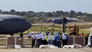 ABDnin yardım uçakları Venezuela sınırında