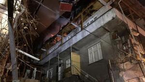 3 katlı binada baca yangını korkuttu