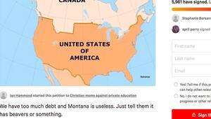 ABDde Gereksiz Montana eyaleti Kanadaya satılsın kampanyası başlatıldı