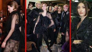 Türk modacının tasarımlarını ünlü mankenler tanıttı