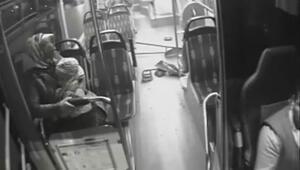 Sultanbeylide otobüsler çarpıştı, kadın yolcu korku dolu anlar yaşadı