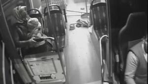 Sultanbeylide otobüslerin çarpıştığı kaza kamerada