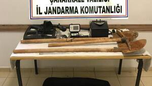 Çanakkalede kaçak kazı operasyonuna 5 gözaltı