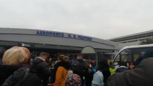 İtalyada havalimanında yangın