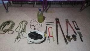 Kablo hırsızı Afganistan uyruklu 2 kişi,tutuklandı