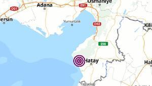 Hatayda 4 büyüklüğünde deprem