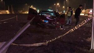 Kahramanmaraşta otomobil devrildi: 1 ölü, 1 yaralı