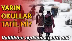 Çanakkale ve o merkezde okullar tatil...İstanbulda yarın okullar tatil olacak mı