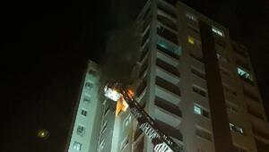 10uncu katta çıkan yangında anne ve bebeği dumandan etkilendi