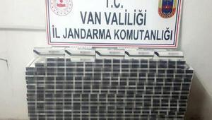 Vanda 3 bin 440 paket kaçak sigara ele geçirildi