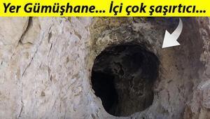 Gümüşhanede taş ocağı çalışması sırasında tesadüfen bulundu