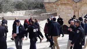 İsrailli bakan Mescid-i Aksayı bastı