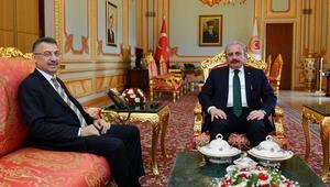 Cumhurbaşkanı Yardımcısı Fuat Oktay, TBMM Başkanı Şentopu ziyaret etti
