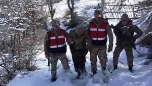 Kaybolan engelliyi 58 kişilik ekip buldu