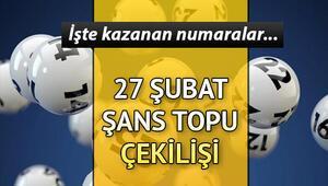 Şans Topu çekiliş sonuçları açıklandı... 27 Şubat Şans Topu sonuçları MPİ sorgulama