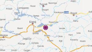 Elazığda 3.1 büyüklüğünde deprem