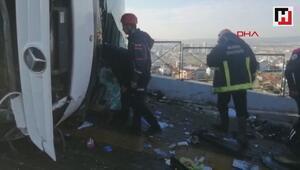 Uludağ yolunda otobüs kazası çok sayıda yaralı var