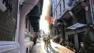 Asmalımescitte yangın paniği