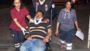 Kayseride otomobil bahçe duvarına çarptı: 4 yaralı