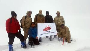 Bingöldeki 2 bin 878 rakımlı Sülbüs Dağına ilk kez kış ayında tırmandılar