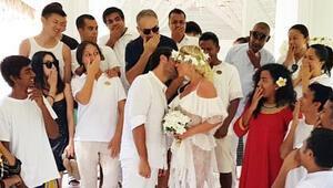 Ünlü çift Maldivlerde nikah tazeledi
