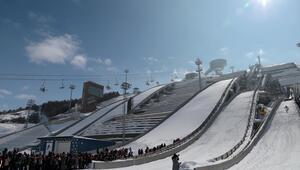 Kayakla Atlama Türkiye Şampiyonası'ndan renkli görüntüler
