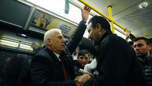 Bursaray'ı kullanan Başkan Bozbey'e vatandaştan yoğun ilgi