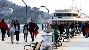 Sahiller ve Taksimde sıcak hava yoğunluğu