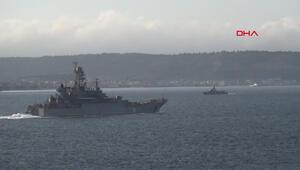 Rus savaş gemisi, Çanakkalede Türk savaş gemisiyle karşılaştı