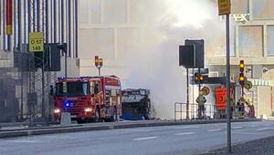 Son dakika... Stockholmde büyük patlama