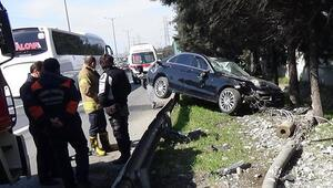 Ümraniye TEM otoyolunda trafiği kilitleyen kaza