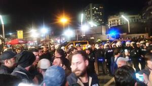 Taksimde protestocu gruba polis müdahale etti