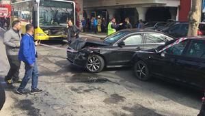 Üsküdarda zincirleme trafik kazası