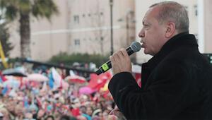 Son dakika Cumhurbaşkanı Erdoğandan Büyükçekmecede önemli mesajlar