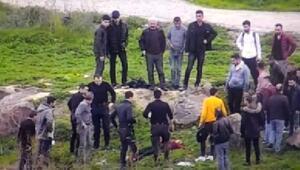 Dicle Nehrine atlayan kadını polis kurtardı