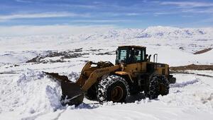 Vanda kardan kapanan mahalle yolları ulaşıma açıldı