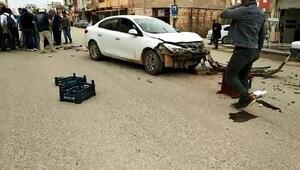 Şanlıurfada otomobil sepetli motosiklete çarptı: 2 yaralı