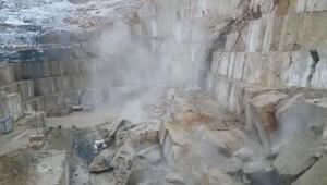 Bursada mermer ocağı böyle çöktü