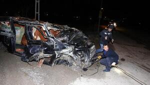 Kahramankazanda trafik kazası: 1 ölü, 1 yaralı