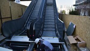 Yürüyen merdivenler yeniden çalıştı