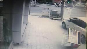 Bahçelievlerde kaza anı kamerada