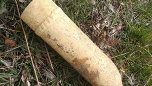 Ağaç dikiminde Kurtuluş Savaşından kalma top mermisi buldular