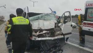 TEM otoyolu Hadımköy gişelerde kaza 1 ölü, 2 yaralı