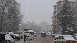 Çamelide kar yağışı etkili oldu