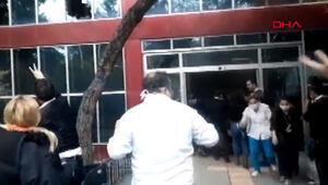 İzmirde hastanede yangın çıktı