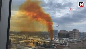 Kuyumcukentten yükselen sarı dumanlar tepkilere neden oldu