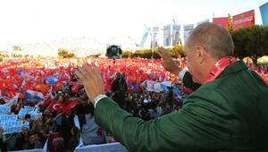 Cumhurbaşkanı Erdoğan: 120 bin kişiyle mitingimizi yaptık