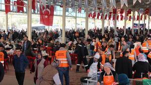 18 Mart için 10 bin kişiye keşkek dağıtıldı