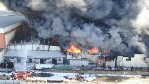 Hadımköydeki fabrika yangınıyla ilgili açıklama