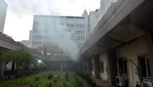 Adanada hastanede korkutan yangın